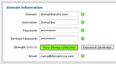 input domain create cpanel